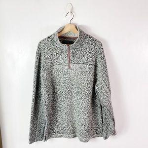 True Grit Oak Hall Gray Pebbled Pullover